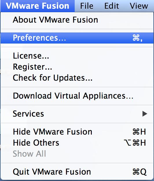 VMware Preferences