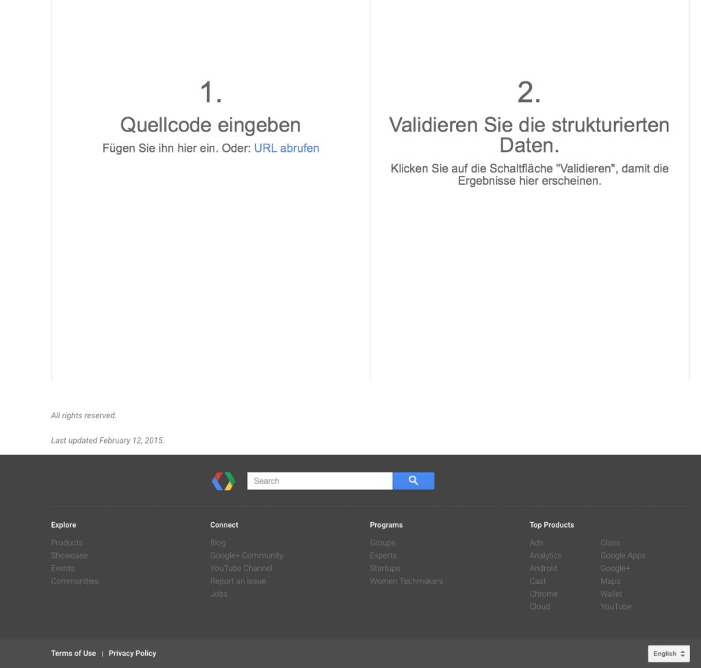 Google forcing German